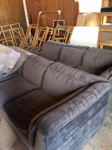 QUICK SALE- grey sectional couch