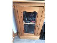 Handmade Solid Pine Hi-fi/ desplay cabinet