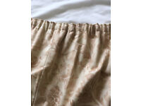 """Good quality Cream curtains with beige floral pattern + lining. 55"""" drop 100"""" width. £40. B15"""