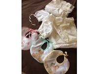 baby items, vintage linen.