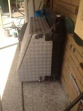 checkerplate tool box with 100lt water tank Bellbird Park Ipswich City Preview