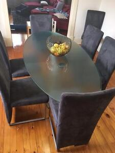 Rolf Benz Table and Chairs Glengowrie Marion Area Preview