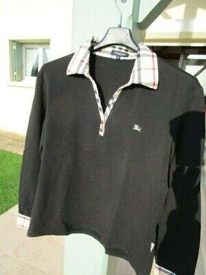 Polo chemise femme burberry 40 comm neuf noir et beige tartan