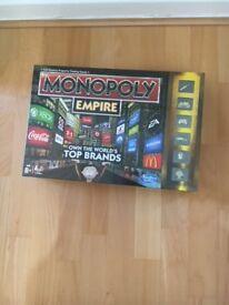 Brand new, still in wrapper. Monopoly Empire board game