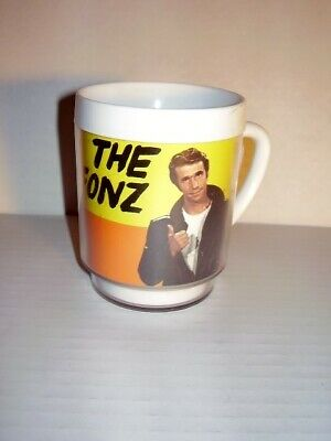 """Vintage 1976 Paramount """"The Fonz"""" Insulated Cup/Mug - Henry Winkler - Happy Days"""