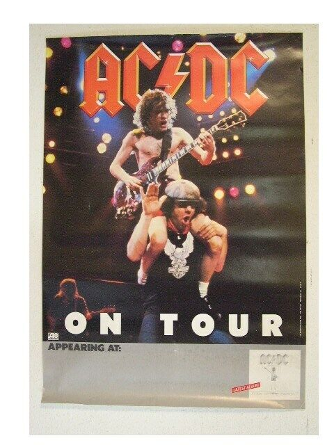 ACDC Poster ACDC AC/DC A C D C Angus Flick OLD