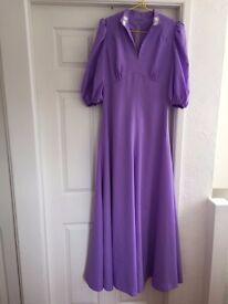 VINTAGE bridesmaid dresses x 2 with matching Juliette caps