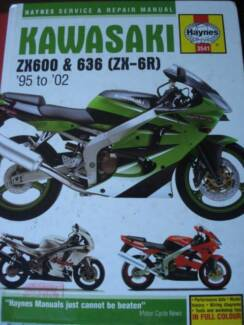 KAWASAKI ZX600 & 636 ZX-6R MOTORCYCLE WORKSHOP MANUAL c2002 Perth Perth City Area Preview