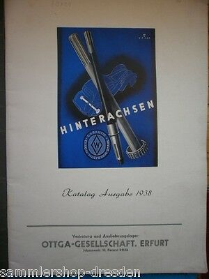 Ottga Hinterachsen Katalog Ausgabe 1938 mit vielen Textabb. und Maßen
