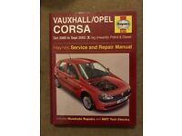 Haynes Vauxhall/Opel Corsa Service and Repair Manual 2000-2003