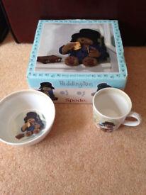 Paddington Bear Mug and Bowl