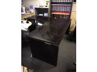 Dark Walnut Bene Executive Desk