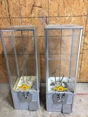 Pair Of 2 Northwestern Super 80 2 Capsule Toy Vending Machine 2 Inch Vendor Aa