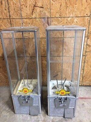 Pair Of 2 Northwestern Super 80 2 Capsule Toy Vending Machine 2 Inch Vendor Aa