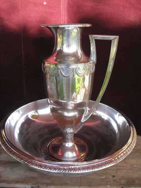 WMF Water Pitcher and Bowl Silverplate