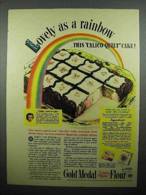 1940 Gold Medal Flour Ad - Lovely as a Rainbow