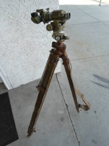 Russian Military Surveying Theodolite with Tripod