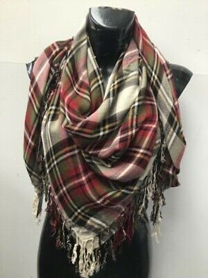 JAYLEY SCARF IN RED CHECKED COTTON LB27