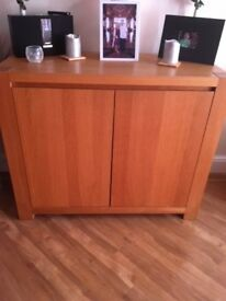 Two wooden sidebaord/cupboards solid wood modern