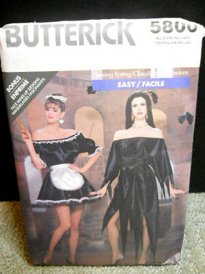 Butterick Sewing Pattern 5800 Halloween Costumes Womens Sizes 6 To 18 or Sm - Lg - Halloween Costumes To Sew