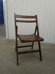 3 High Quality Folding Chairs - WOOD