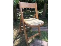 RETRO/VINTAGE FOLDING CHAIR - ORIGINAL CONDITION - CAN BE RECOVERED TO SUIT