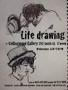 LIFE DRAWING sessions / classes in Melbourne Collingwood Yarra Area Preview