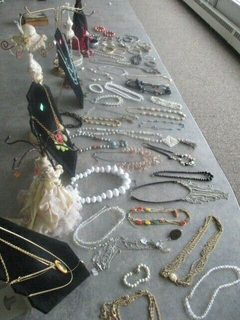 Assorted Lot of Necklaces, Bracelets and Rings, 50+ Pieces