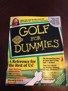 Golf for Dummies Manual Book
