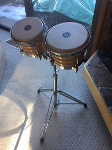 Latin Percussion Bongos with Stand