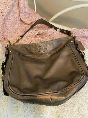 Coach Metallic Bronze Leather Handbag No. F0882-12871