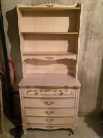 French provincial dresser with bookcase