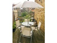Outdoor Table+4chairs+parasol