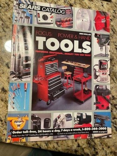 Vintage Sears Craftsman 1991 Power and Hand Tools Catalog