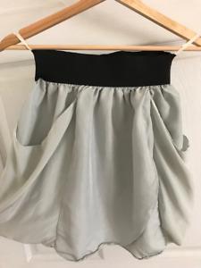 WILFRED Silk Skirt Baby Blue - Size 2