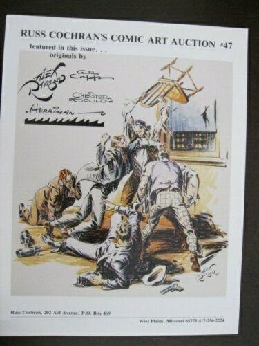 1992 Russ Cochran Comic Art Auction Catalog # 47 ~ Alex Raymond ~ 20 pages ~