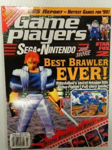 VENTAGE MARCH 1995 VOL. 8, NO. 3 GAME PLAYERS BEST BRAWLER EVER! MORTAL KOMBAT