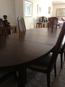 Dining Room Table & Chairs - all wood - good. cond.