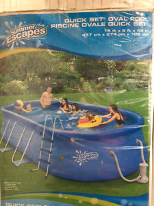 Summer Escapes Quick Set Oval Pool 15ft x 9ft x 42in