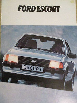 CATALOGUE AUTO : FORD : ESCORT 11/1980