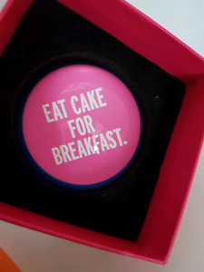 """BRAND NEW IN BOX Kate Spade """"Eat Cake for Breakfast"""" paperweight"""
