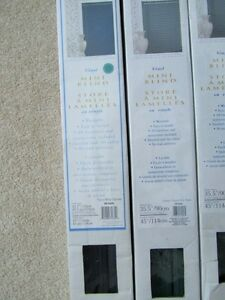 "Vinyl MINI BLINDS ~~ 35.5"" X 45"" & 43.5"" X 45"""