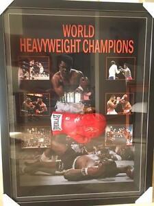 World heavyweight champions singed glove Muhammad Ali, Mike Tyson Frankston Frankston Area Preview
