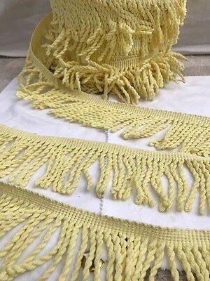 Yellow Twisty Fringe Trim BY THE YARD