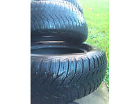 FOR SALE: Six winter tyres (5 Goodyear Ultragrip + spare ) 195 65 R15