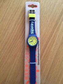 New Superdry Urban SYG164UY Watch - Blue & Yellow