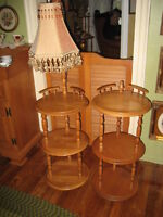 REDUCED TODAY! VINTAGE ROXTON MAPLE LAMP TABLE/SIDE TABLE SET