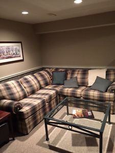 Sofa sectional and tables