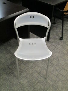 Large Qty of Stacking Chairs-Metal Frame Plastic Seat & Back