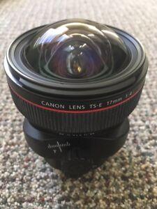Canon TS-E 17mm F/4L Tilt-Shift Lens in excellent condition